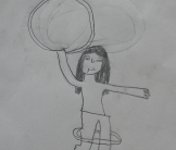 hula drawing by EBT Refuge children
