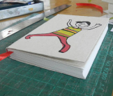 Finished circus notebook made by EBT Refuge girls